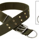 Olive Green Adjustable Nylon Large Pet Dog Collar
