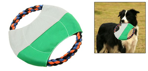 Rope Puppy Dog Pet Catching Training Flyer Frisbee Toy