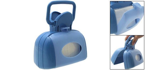 Portable Clip Pickup Pooper Scooper for Pet Dog Cat Blue