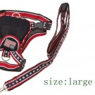Black Large Pet Dog Backpack Carrier Harness with Leash Set