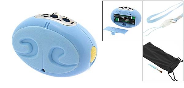 Mini Wearable Ionizer Air Purifier for Pets Dog Cat - Sky Blue