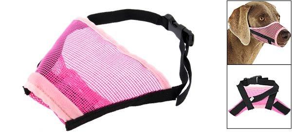 Dog Mesh Nylon Muzzle Size XL w/ 11 for Dog Snouts Pink & Black 7,