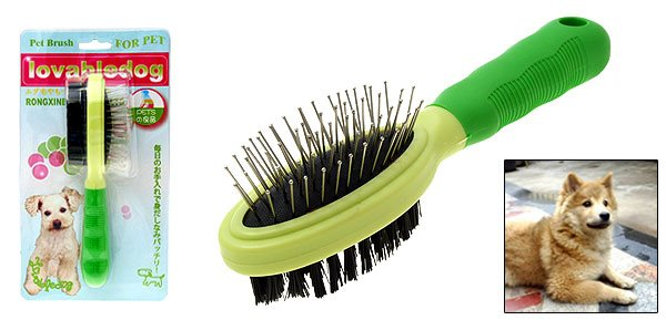 Dog Pet Hair Splitter Grooming Tool Double Side Oval Brush w/ Bristle