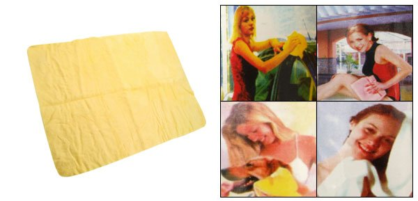 Fashion Pet Use High Absorbency Sopping Up Small Yellow Foam Towel