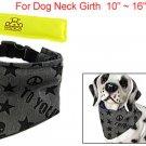 Black Star Skull Pattern Dog Neckerchief w Ice Pack