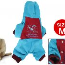 Press Stud Closure Red Blue Costume Pet Dog Autumn Jumpsuit M