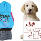 Pet Dog Winter Hooded Patch Pocket Fleece Inner Dress XL