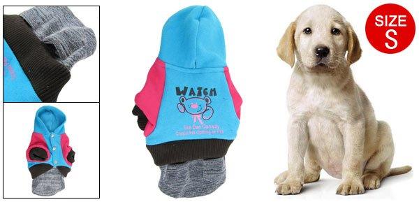 Puppy Doggie Winter Blue Fuchsia S Pocket Dress Clothes