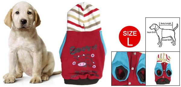 Pet Dog Costume Press Studs Closure Cow Print Hoodie Clothes L