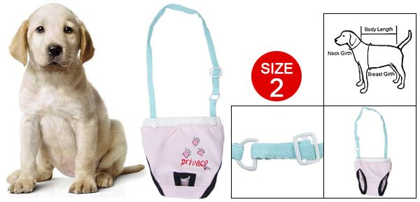 Doggy Pink Elastic Shoulder Belt Cotton Pants Size 2