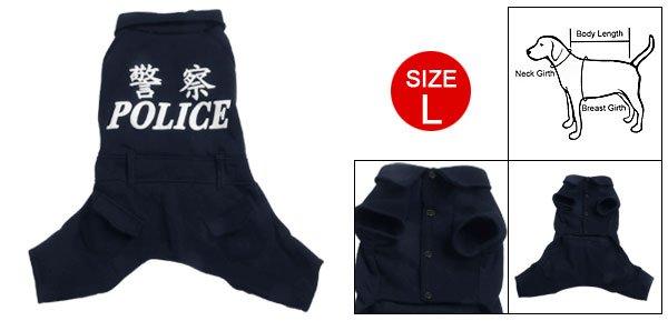 Dog Size L Winter Warm Navy Blue Jumpsuit Apparel New