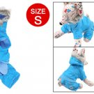 Size S Sky Blue Cotton Plush Apparel Clothes for Dog
