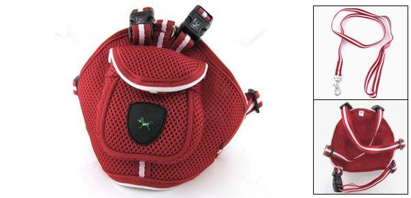 Red Nylon Adjustable Pet Dog Safety Long Harness Leash