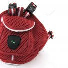 Red Nylon Adjustable Pet Dog Safety Long Harness Leash