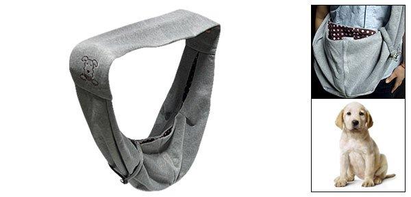 Grey Soft Portable Convenient Pet Dog Carrying Shoulder Bag