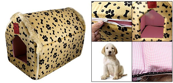 L31 x W29 x H37cm Pet Puppy Collapsible Dog House Zippered Shelter
