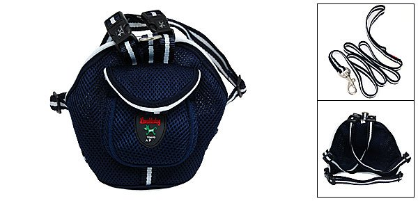 Size L Pet Cat Doggle Puppy Bag Backpack Harness with Leash Set