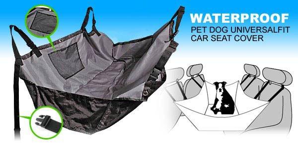 Pet Dog Car Seat Cover Safety Hammock WATERPROOF - Black