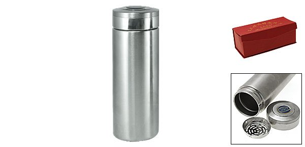 Silvery Stainless Steel Tea Vacuum Flask Thermos Bottle V1