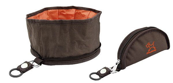 Collapsible Portable Fabric Travel Dog Pet Food Water Nylon Feeder Bowl