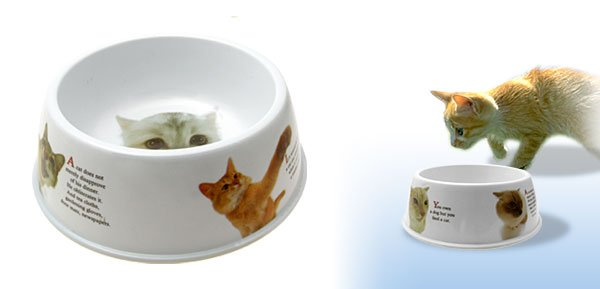 White Solid Plastic Dog Cat Food Water Bowl Dish Pet Feeder