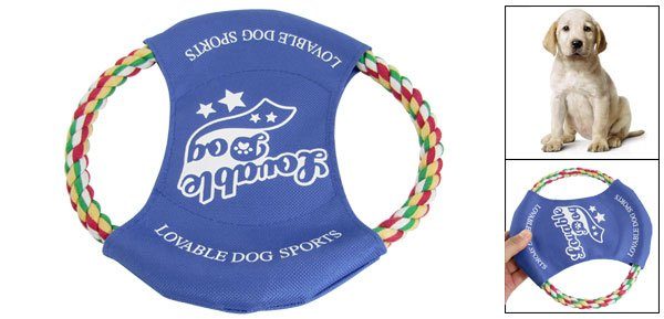 Pet Dog Training Pastel Cotton Rope Flyer Frisbee Bite Toy