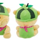 Sponge Filled Green Watermelon Hat Plush Bear Gift Pet Dog Toy Doll