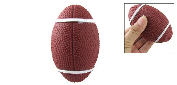 Funny Squeaky Dog Doggie Pet Squeeze Football Toy
