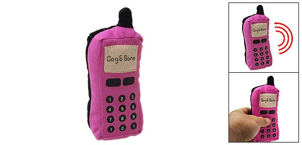 Aamaranth Dog Puppy Toy Plush Stuffed Pet Mobile Cell Phone Rings