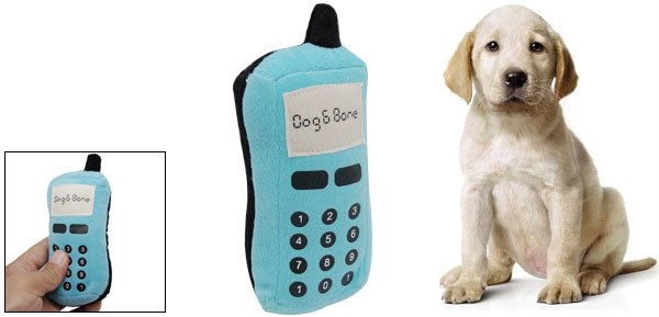 Puppy Dog Toy Plush Stuffed Pet Mobile Cell Phone Rings