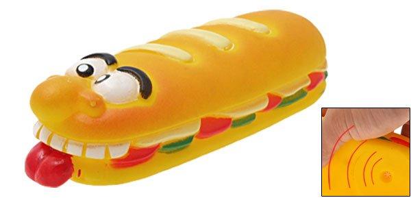 Funny Vinyl Sandwich Squeaky Dog Cat Pet Chew Toy