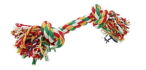 Pet Dog Bone Chew Cotton Braided Rope Knot Tug Toy 10inch