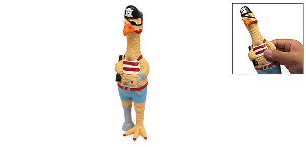 Pirate Sea Rover Bird Squeaky Dog & Cat Pet Chew Toy