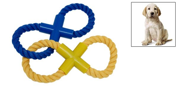 2 Eight Pattern Rope Catching Toy for Dog Pet