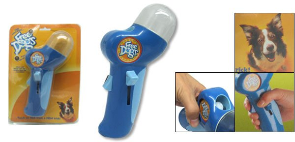 Blue Funny Dog Treat Launcher Gun
