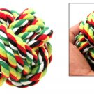 Big Pet Dog Cat Entertainment Rolling Use Multicolor Cloth Ball