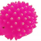 Fashion Like Real Lovely Small Pink Silicone Hedgehog Pet Toy