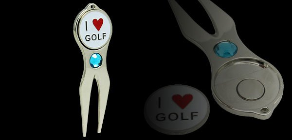 Stainless Steel Golf Divot Tool and Ball Marker