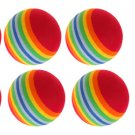6 Rainbow Style Foam Golf Practice Training Balls