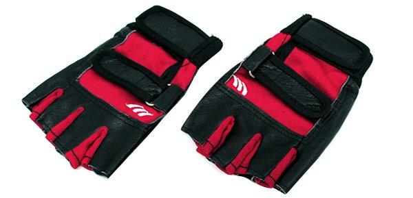 Half Finger Red Protective Sports Gloves