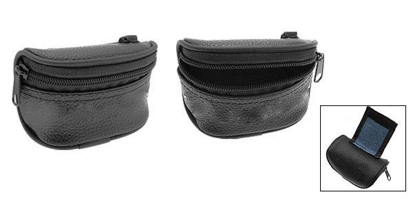 Golf Zipper Carrier Leather Case Carry 3 Balls Bag