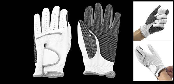 Men's Left Hand All Weather Golf Glove Size M White & Black