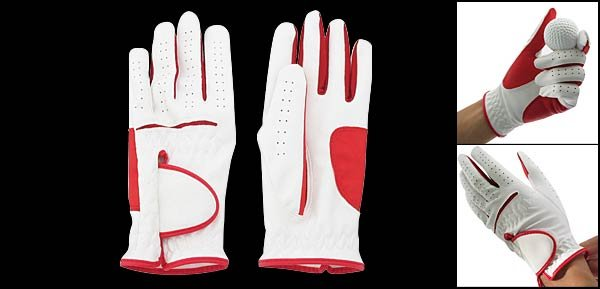 Ladies Left Hand All Weather Golf Glove Size M (LPP-06) White & Red