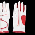 Ladies Left Hand All Weather Golf Glove Size M (LPP-06) White & Red