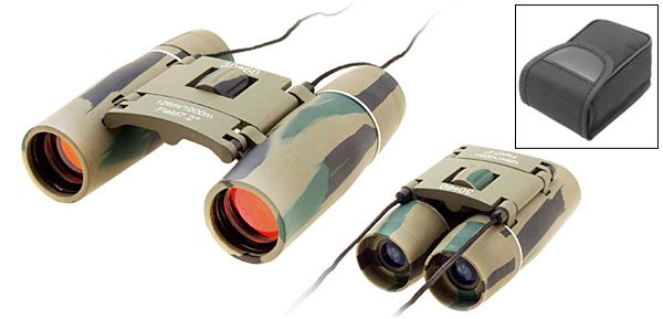 Mini Camouflage Sports Outdoor Binoculars 10x22
