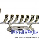 55740 - NICKEL KINETIC MENORAH