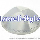 00336- LOT OF 10, HIGH QUALITY WHITE TERYLENE KIPA / KIPPAH / YARMULKE / YAMAKA / KIPPA