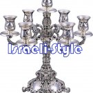 02925 - SILVER PLATED 7 BRANCH CANDLESTICKS/CANDLE HOLDERS 35 CM
