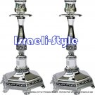 40013 - SILVER PLATED CANDLESTICKS/CANDLE HOLDERS 25 CM