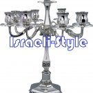 40022 - BRASS SILVER PLATED CANDLE STICKS / CANDLE HOLDER- 9 BRANCH 35 CM .
